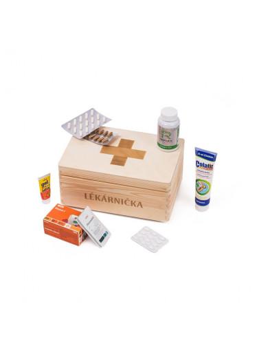 ČistéDřevo Dřevěný box - lékárnička