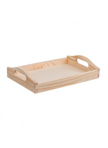 ČistéDřevo Dřevěný servírovací tác 30x20 cm