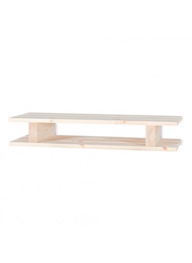 ČistéDřevo Dřevěná polička paleta - 60x23,5x10 cm
