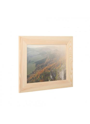 ČistéDřevo Dřevěný fotorámeček na zeď 31 x 25 cm