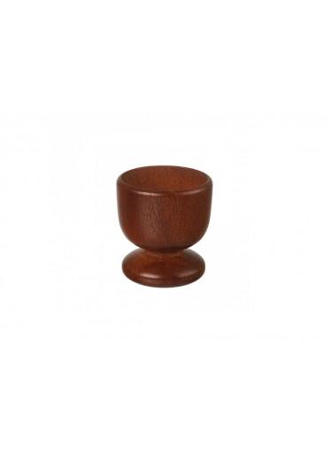 ČistéDřevo Dřevěný kalíšek na vejce 5 cm - tmavý