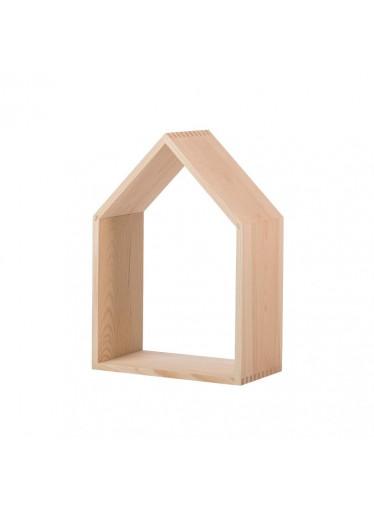 ČistéDřevo Dřevěná polička domeček otevřená - velká