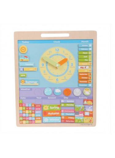 Bigjigs Anglický kalendář s hodinami