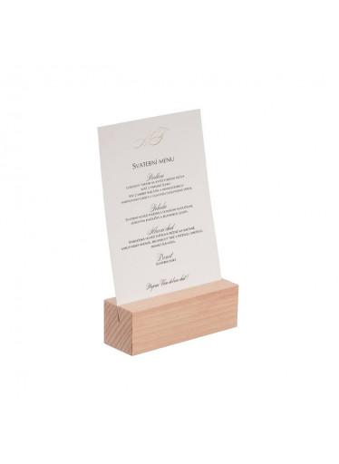 ČistéDřevo Dřevěný stojan na menu A5 I