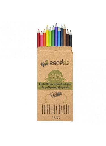 Pandoo barevné pastelky ze starých novin 12 ks