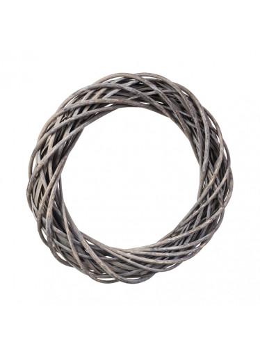ČistéDřevo Proutěný věnec šedý 42 cm