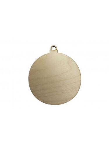 ČistéDřevo Dřevěná vánoční baňka 10 cm