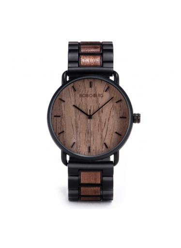 ČistéDřevo Dřevěné hodinky Bobo Bird - tmavé