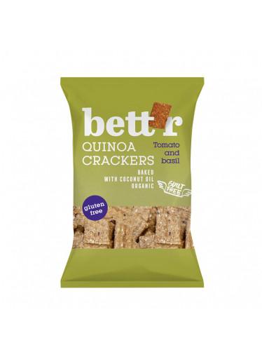 Bett'r Krekry quinoa & rajčata s bazalkou BIO 100g
