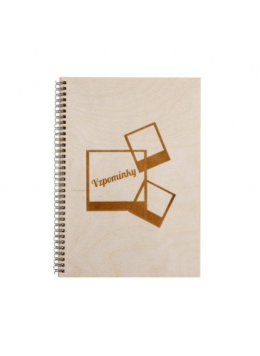 ČistéDřevo Dřevěné fotoalbum A4 - Vzpomínky