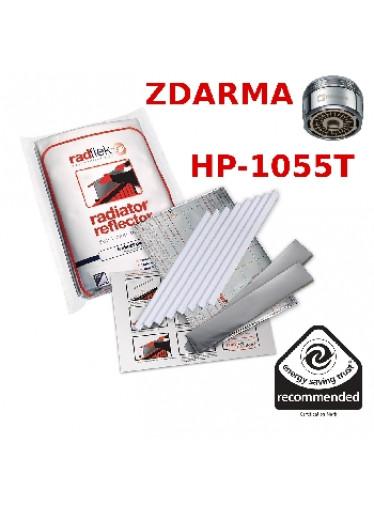 Úsporné radiátorové fólie Radflek 3 ks pro 6 radiátorů a 2ks Radstik