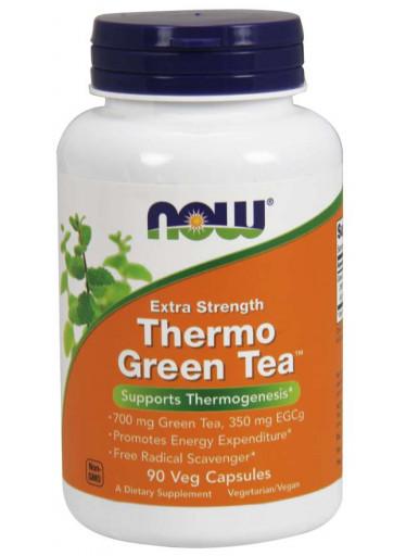 NOW® Foods NOW Thermo Green Tea, extra silný, 90 kapslí