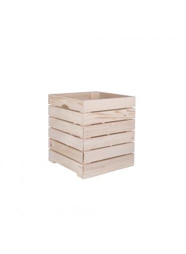 ČistéDřevo Dřevěná bedýnka 30 x 30 x 35 cm