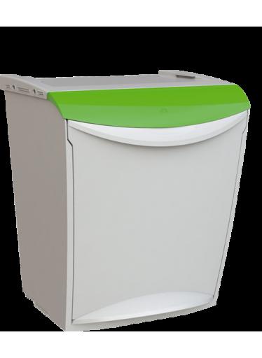 Odpadkový koš na tříděný odpad 25 litrů Zelená