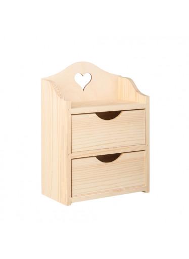 ČistéDřevo Dřevěná skříňka se srdíčkem