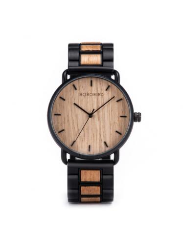 ČistéDřevo Dřevěné hodinky Bobo Bird - světlé
