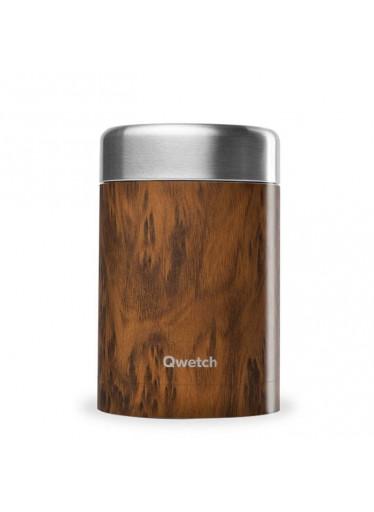 Termoska na jídlo nerezová - Wood 650 ml