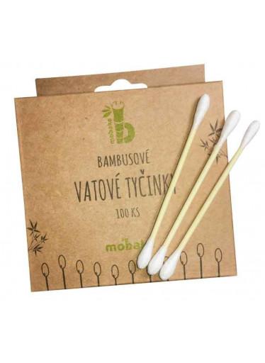 Mobake Vatové tyčinky do uší (200 ks) - z bavlny a bambusu