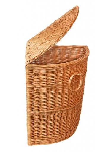 ČistéDřevo Proutěný koš na prádlo přírodní rohový