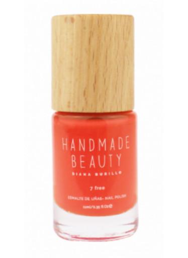 Handmade Beauty Lak na nehty 7-free (11 ml) - Papaya - s dřevěným uzávěrem