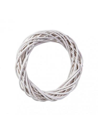 ČistéDřevo Proutěný věnec bílý 38 cm