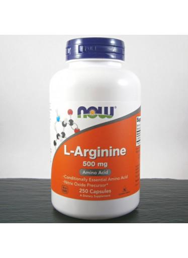 NOW L-Arginin, 500 mg x 250 kapslí