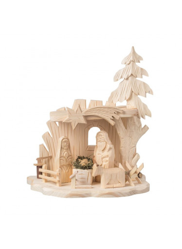 ČistéDřevo Dřevěný betlém XIV