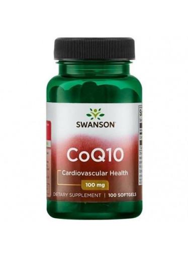 Swanson CoQ10, 100 mg, 100 softgelových kapslí