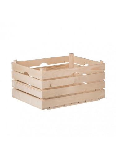 ČistéDřevo Dřevěná bedýnka 52 x 36 x 26 cm