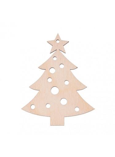 ČistéDřevo Dřevěná vánoční ozdoba - stromeček