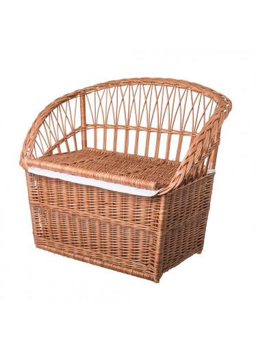 ČistéDřevo Proutěná lavice s úložným prostorem velká