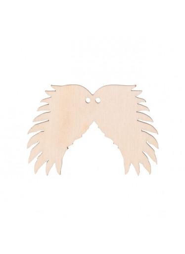 ČistéDřevo Dřevěná andělská křídla III s dírkou 6 x 4 cm