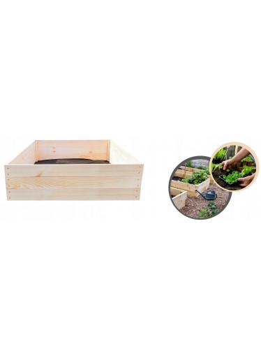 ČistéDřevo Dřevěný vyvýšený záhon 120 x 120 x 27 cm