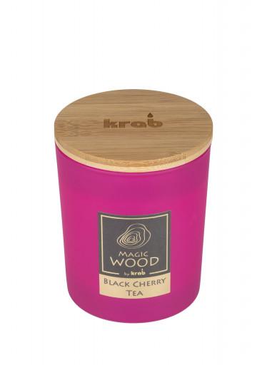 Krab Vonná svíčka Magic Wood - černý třešňový čaj