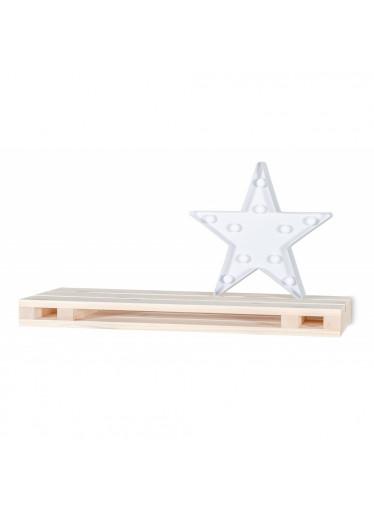 ČistéDřevo Dřevěná polička paleta - 60x23,5x5 cm