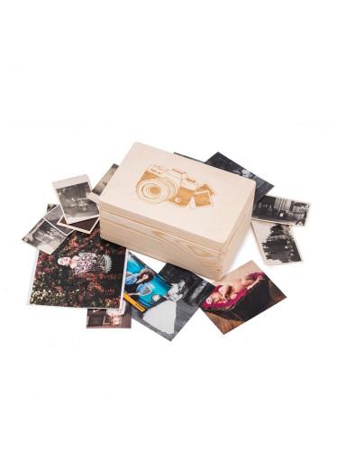 ČistéDřevo Dřevěný box na fotografie