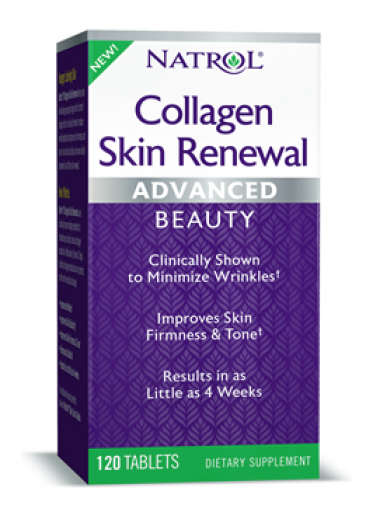 Natrol Collagen Skin Renewal (kolagenní peptidy), 120 tablet