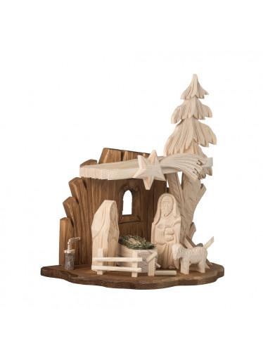 ČistéDřevo Dřevěný betlém IV