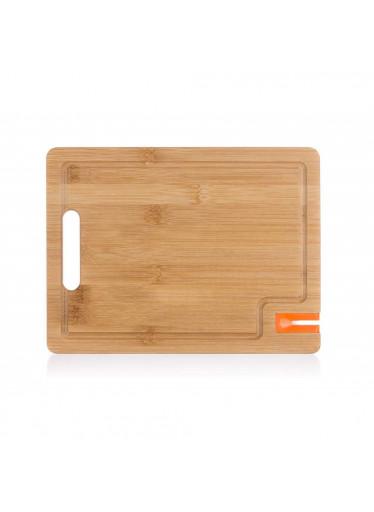 ČistéDřevo Bambusové krájecí prkénko s brouskem na nože - 28 x 21 cm