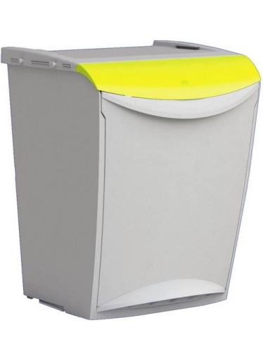 Odpadkový koš na tříděný odpad 25 litrů Žlutá