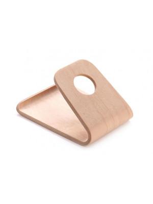 ČistéDřevo Dřevěný ohýbaný stojánek na mobil - světlý