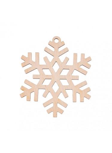 ČistéDřevo Dřevěná vánoční ozdoba - vločka