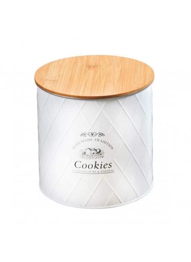 Kesper Plechová dóza s bambusovým víkem - Cookies