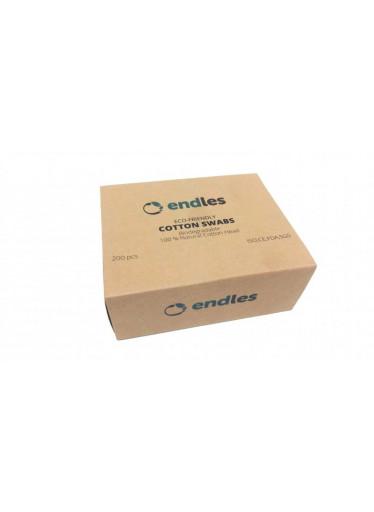 Endles Vatové tyčinky do uší (200 ks) - z bambusu a bavlny