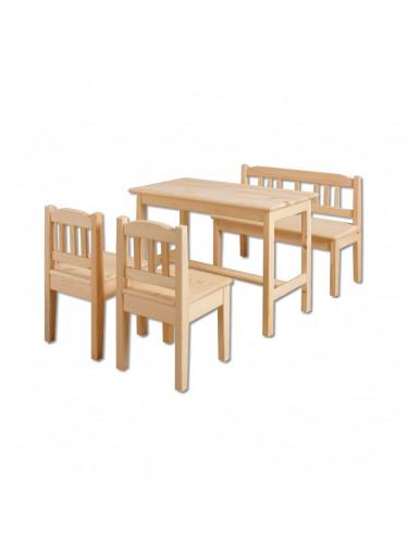 ČistéDřevo Dřevěný stoleček s židličkami