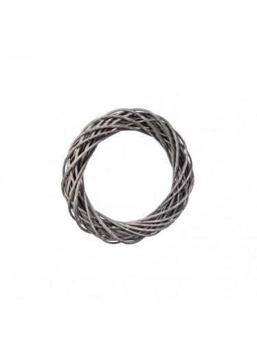 ČistéDřevo Proutěný věnec šedý 30 cm