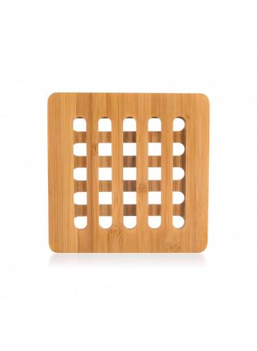 ČistéDřevo Dřevěná bambusová podložka BRILLANTE - 16 x 16 x 1 cm
