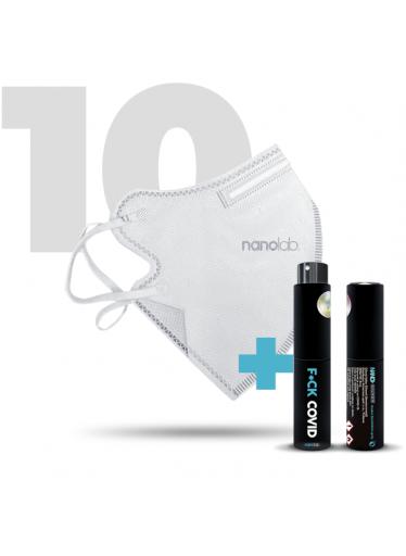 10 x Český bezpečný nano respirátor FFP2 bílý
