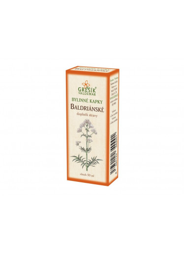 Baldriánské bylinné kapky 50 ml