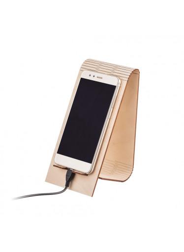 ČistéDřevo Dřevěný skládaný stojánek na mobil